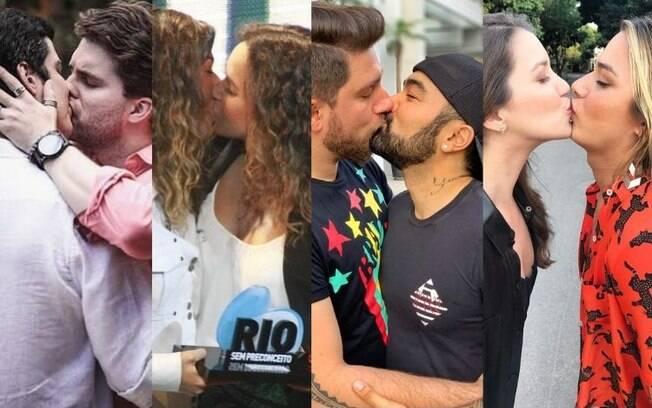 Famosos lotam as redes sociais de beijo gay para protestar contra a censura de livros