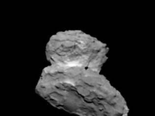 O astro. O cometa visto da sonda, a 1.000 km, em imagem real