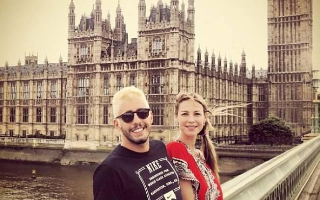 Luana Piovani e Pedro Scooby: a atriz e o marido platinado em Londres