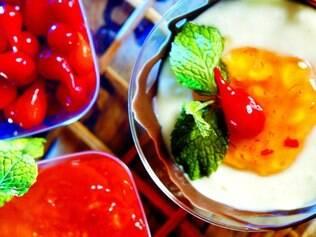 Surpresa.  Um dos bares participantes do Comida di Buteco 2015  já tem sua sobremesa com iogurte