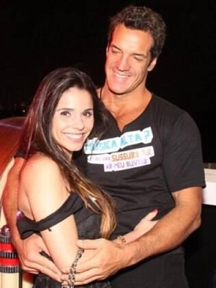 Carlos Machado e a nova namorada Flávia Cristine no Rock in Rio