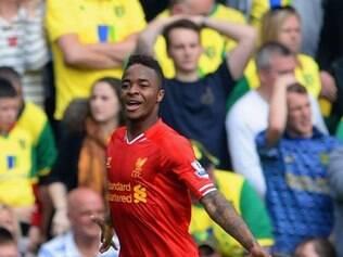 Raheem Sterling foi o grande nome da vitória do Liverpool