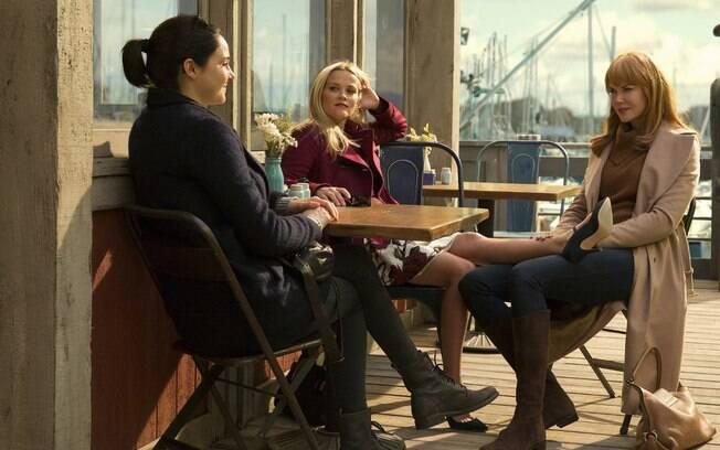 Nicole Kidman, Shaile Woodley e Reese Witherspoon em cena de
