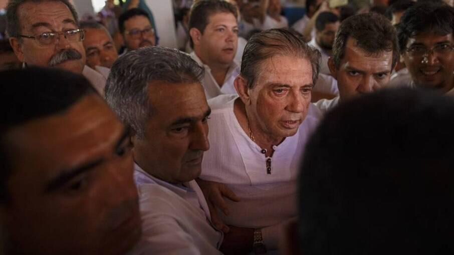 João Teixeira de Faria em sua última aparição na Casa de Dom Inácio de Loyola, em 12 de dezembro de 2018, quatro dias antes de ser preso