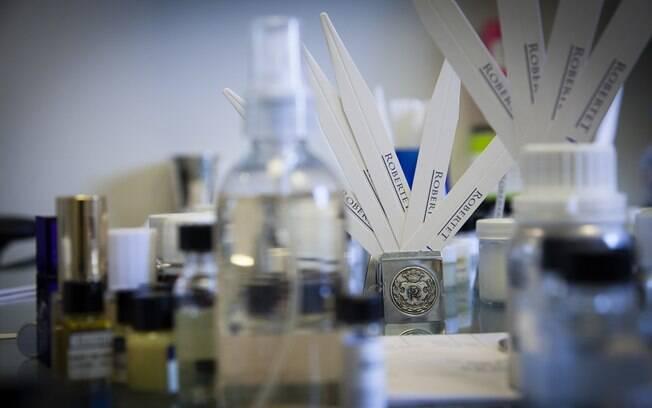 Laboratório da Robertet Fragrances em Nova York
