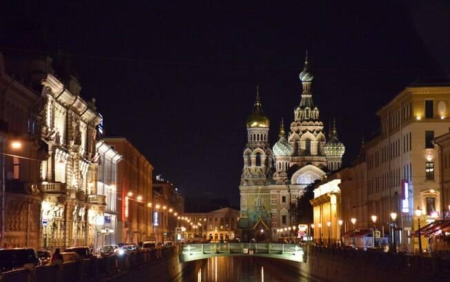 Igreja do Sangue Derramado, em São Petersburgo, é uma das principais atrações locais