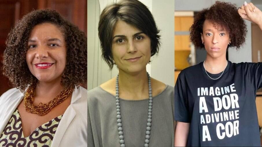 Deputada estadual Renata Souza (PSOL-RJ), política Manuela d'Ávila e vereadora Erika Hilton (PSOL-SP)