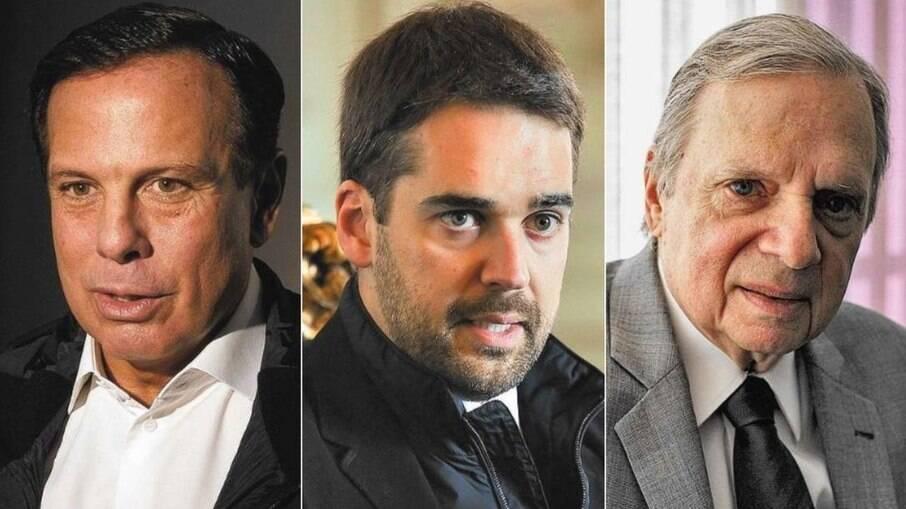 Doria, Eduardo Leite e Tasso Jereissati almejam canditatura à presidência da República