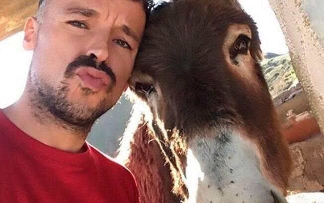 Ismael e Baldomera, sua mula de estimação
