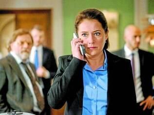 """Política. Sidse Babett Knudsen é a primeira-ministra Birgitte Nyborg, em """"Borgen"""", descobrindo que moralizar o governo é tarefa impossível"""