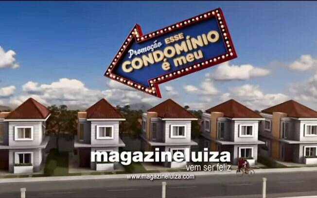 Promoção do Magazine Luiza promete dar condomínios no valor de R$ 1 milhão. Foto: Reprodução