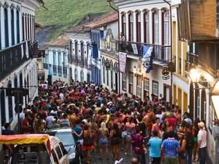 Cidades - Do dia - Ouro Preto MG Carnaval na cidade historica de Ouro Preto  FOTO: MARIELA GUIMARAES / O TEMPO 16.2.2015