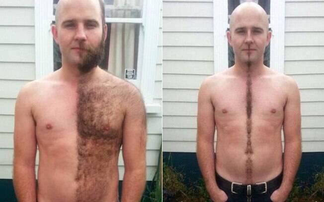 Aparador De Pelo Corporal Masculino ~ Pelos no corpo estes homens resolveram fazer arte na depilaç u00e3o Mundo Masculino iG