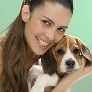 Cão modelo: durante um passeio com Ana Paula, sua dona, Lancelot recebeu um convite para participar de campanha publicitária
