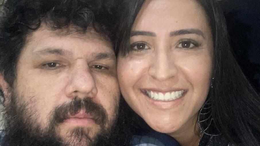 Oswaldo Eustáquio e sua mulher, Sandra Terena