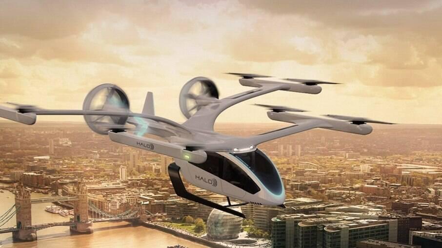 Halo pediu 200 unidades de veículos elétricos de decolagem e pouso vertical (eVTOLs)
