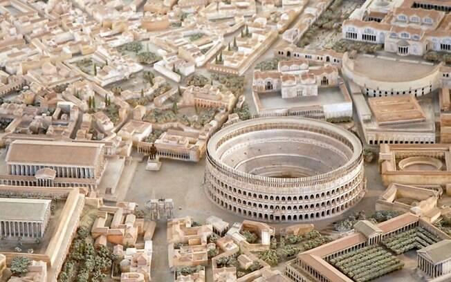 Maquete está em exposição no Museu da Civilização Romana e é conhecida como o Plastico di Roma Imperiale