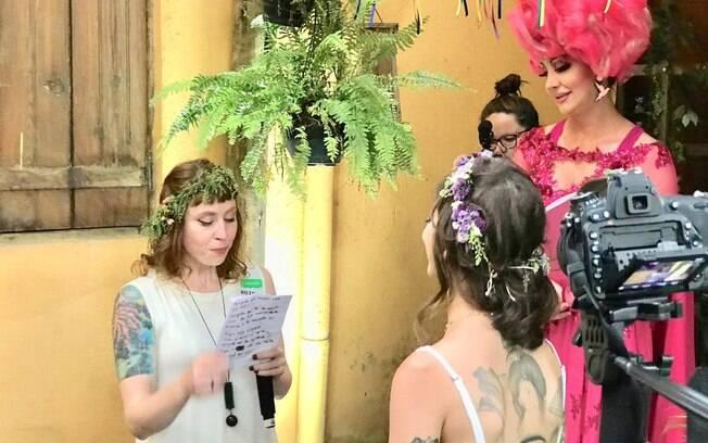 A festa de casamento contou com discurso emocionante das noivas e de Paulette Pink