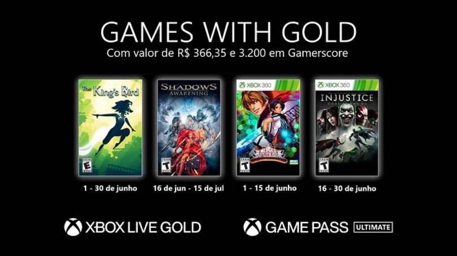 Veja os jogos de graça para Xbox