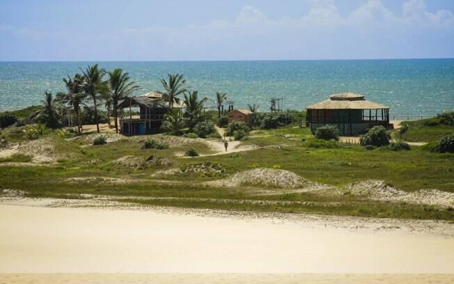 Vista do alto das dunas de Itaúnas