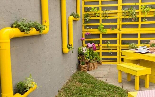 jardim vertical tubo pvc