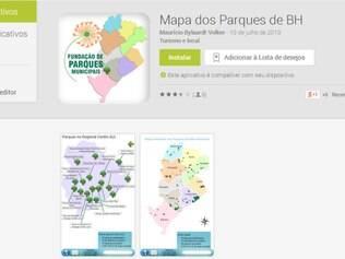 No site da PBH, na página da FPM, os usuários encontram mapas interativos dos parques e cemitérios