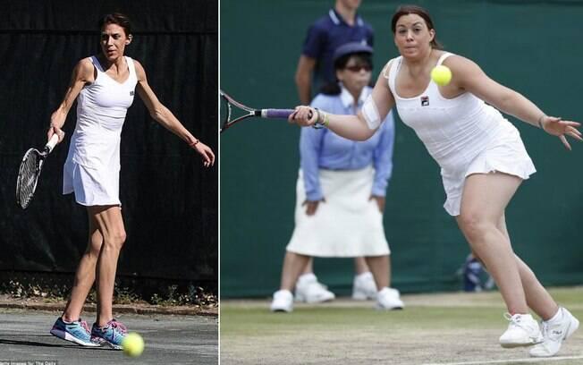Imagens da tenista Marion Bartoli em 2016 e 2017