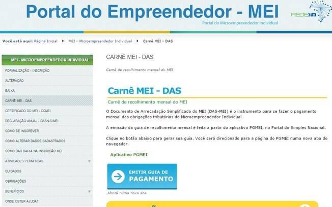 Boleto do DAS-MEI terá novamente que ser emitido pelo Portal do Empreendedor