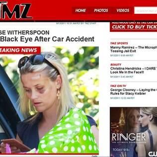 Reese Witherspoon: toda machucada após ser atropelada por senhora de 84 anos