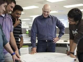 Katz e sua equipe: investimento em anúncios para compensar perda de visitas espontâneas