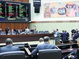 Plenário.  Disputa para deputados estadual e federal ajudou a esvaziar as sessões na Camara de BH