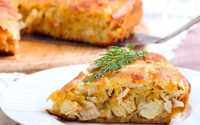 Torta de frango ganha mais nutrientes com chia e farinha de arroz