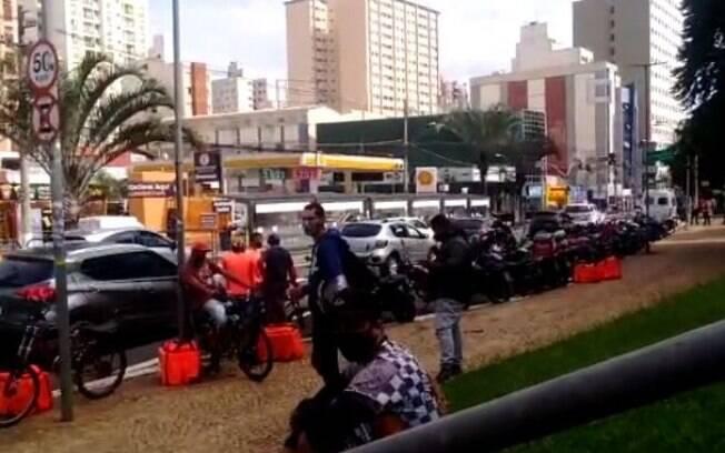 Campinas registra protesto de motoboys contra lockdown