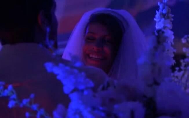 Fran durante seu casamento com Diego