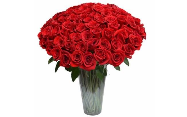 100 Rosas Colombianas no Vaso; Por: R$ 995,90 em até 3x de R$ 331,97