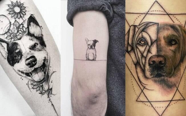 Tatuagens realistas, com base em fotografias dos animais, podem ser feitas de diferentes formas e até mesmo estilos