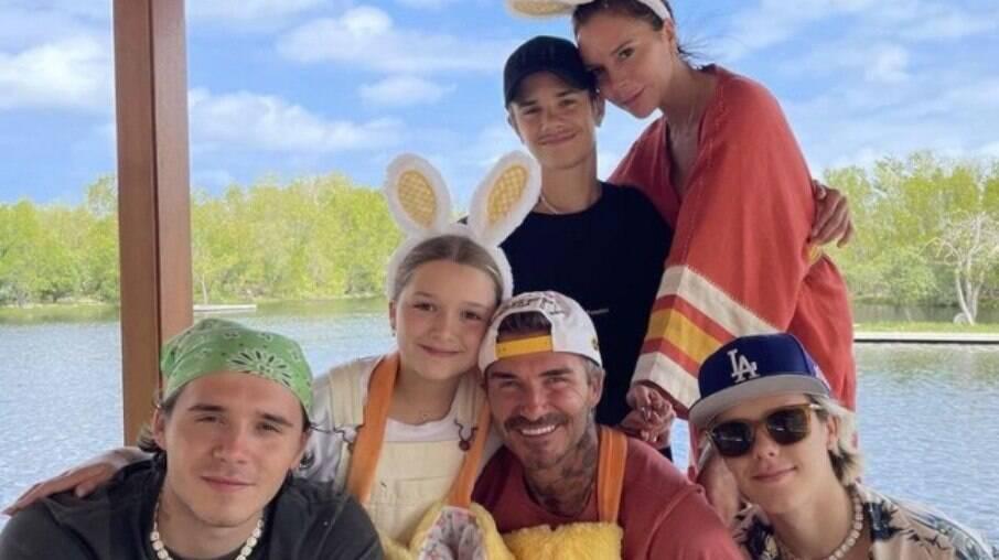 Victoria Beckham e filhos