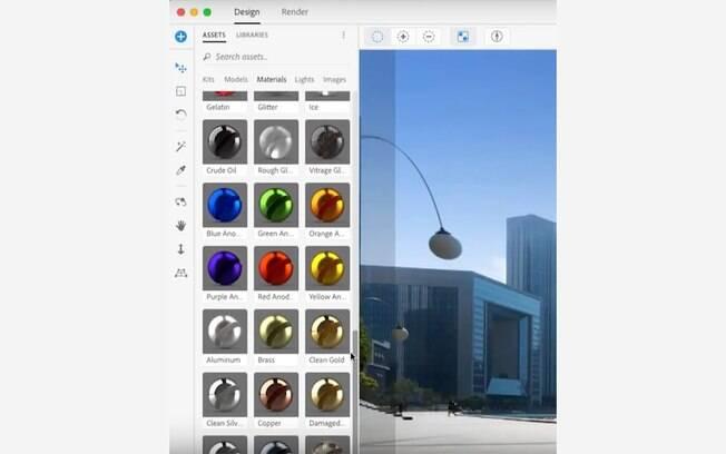 f7735fda121 O Adobe Dimension te oferece uma série de texturas prontas para você  aplicar no seu objeto