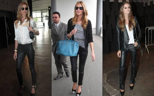 As modelos Ana Beatriz Barros, Rosie Huntington-Whiteley e Izabel Goulart