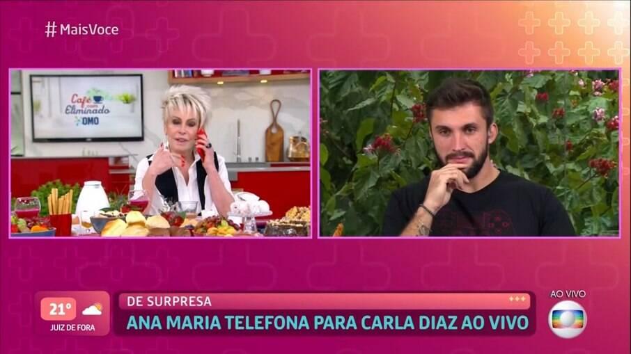 Ana Maria ligou para Carla Diaz ao vivo