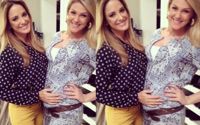 Nesta quarta-feira, Ticiane Pinheiro visitou a amiga Ana Hickmann