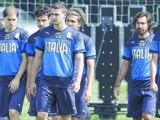 Seleção italiana fez o último treino antes de viajar para a partida contra a Costa Rica amanhã,no Recife