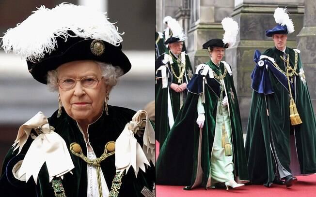 Ao lado da avó, rainha Elizabeth II, Príncipe William recebe a honra mais alta de um nobre