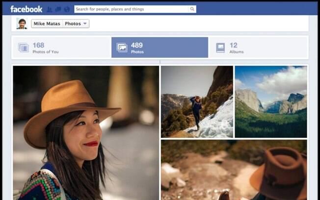 Novo recurso do Facebook organiza fotos em mosaico