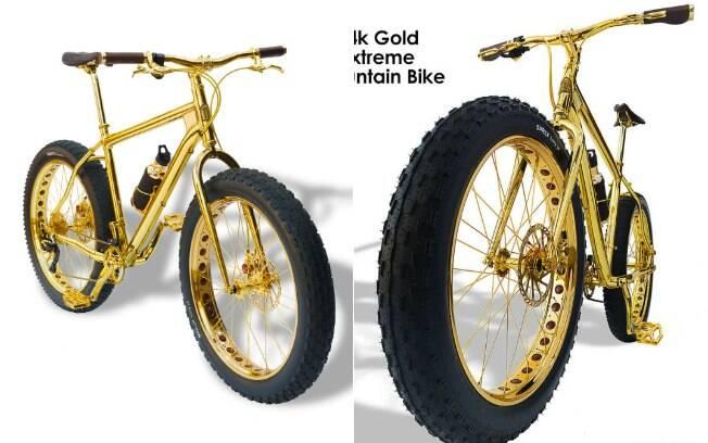 38915a13059 Empresa vende bicicleta de ouro por R  2