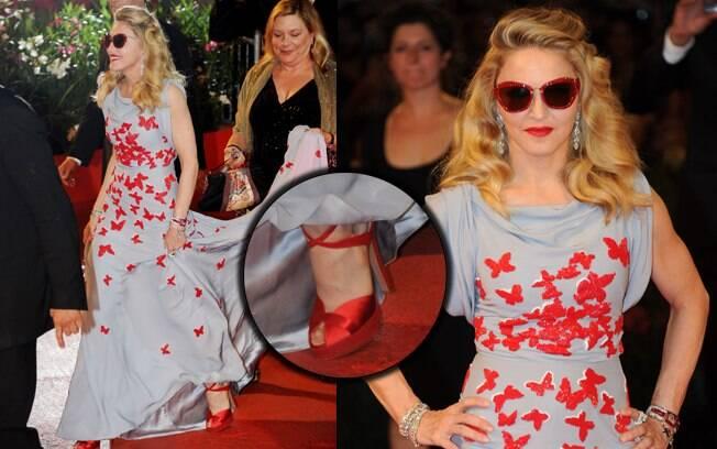 Madonna durante o Festival de Cinema de Veneza