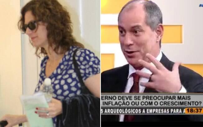 Patrícia Pillar (no dia 13/01) e Ciro Gomes (no dia 17/01): separados, mas ainda de aliança