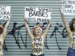 Estereótipos. Feministas fazem protesto nas ruas de Belo Horizonte contra o machismo e a ditadura da beleza, noções que são impregnadas nas mulheres ainda durante a infância e a adolescência