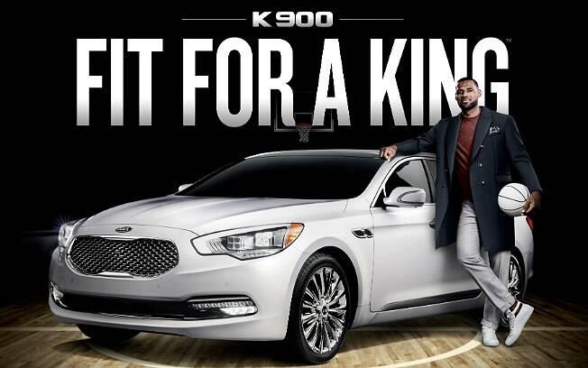 LeBron James, o novo garoto-propaganda do sedã de luxo K900