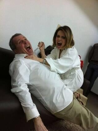 Sandy e daniel Filho: brincadeira para desopilar